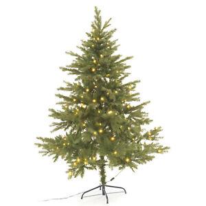 Künstlicher Weihnachtsbaum Plastik Tannenbaum Beleuchtung 120 LED 180 cm PVC