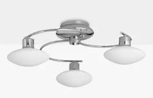 John Lewis 'Tameo' LED Semi Flush 3 Arm Ceiling Light- Ex-Display Model