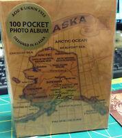 Alaska Photo Album holds 100 4x6 photos - Map on both sides Plus free postcard