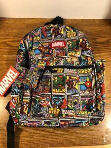 Marvel Spiderman Hulk Ironman Black Panther BACKPACK BOOK BAG All Over Print NEW