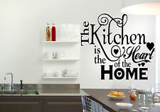 Kitchen Heart Home Quote Wall Stickers Art Kitchen Room Removable Decals DIY
