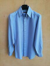 CAMICIA GEMELLI t-shirt polo abito uomo DOLCE & GABBANA bianco azzurro 38 15 S