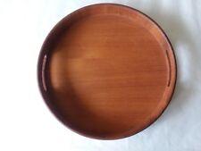 "Good Wood Teak Bed Breakfast Tray Decorative Tray Thailand 14"" x 2"" Round"