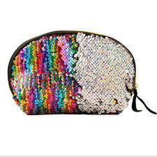 Women Peacock Feather Sequin Evening Clutch Purse Round Faux Leather Bag 0298