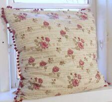 Kissenbezug GRACE 45x45 beige rot Blumen floral Landhaus Vintage