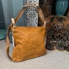 Potri Tan Brown & Rose Gold Faux Leather Shoulder Bag / Shopper