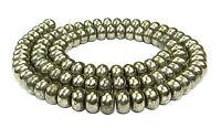 😏 Pyrit Perlen Rondelle ca. 6,5 x 4mm Edelsteinperlen Strang f. Kette 😉PYRI-14