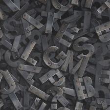 Fresco Letters Gris Black/Grey Typograph Wallpaper (Was £11)