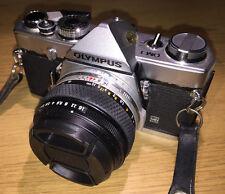 Olympus OM1 MD 35mm film SLR camera with Zuiko-S 50mm f1.8 & case - classic
