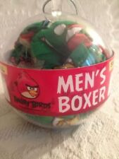 NWT S Angry Birds Game App Men's Boxers In Christmas Ornament Ball Green