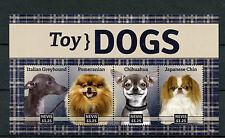 Nevis 2014 MNH Toy Dogs 4v M/S Pets Greyhound Pomeranian Chihuahua Japanese Chin