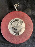 Vintage Chrome Clad The Lufkin Rule Co. 100 FT. Steel Tape And Foldable Ruler(3)