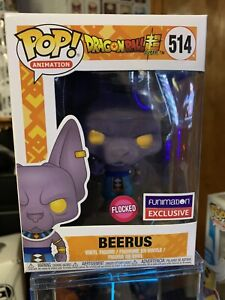 Funko Pop Animation Flocked Beerus Dragonball Super (Funimation Exclusive) #514