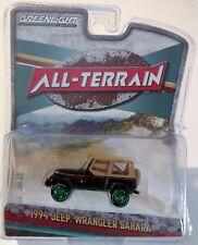Greenlight 35070-D All Terrain 1994 Jeep Wrangler Sahara 1:64 Scale RARE Chase