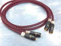 Maze Audio Reference Series RCA Patch Cables Interconnects Locking Red/Black