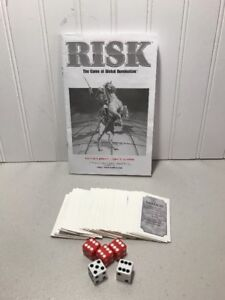RISK 1998 Replacement Pieces Parts Board Game War Cards Instructions Dice