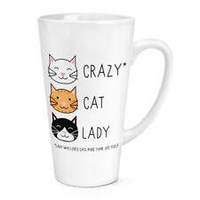 Crazy Gato Dama 17OZ café con leche Taza Taza-Gatito Animal Divertido Novedad Té Café