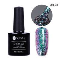 7.5ml UR SUGAR Chameleon UV Gel Nail Polish Soak Off Holographic Glitter Varnish
