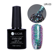 7.5ml UR SUGAR Nail Art UV Gel Polish Soak Off Chameleon Holographic Glitter