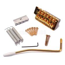 Gold Tremolo Bridge Single Locking System for Fender Strat Electric Guitar