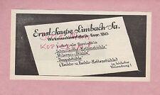 LIMBACH, Werbung 1932, Ernst Saupe Wirkmaschinen-Fabrik Ketten-Stühle