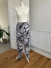 Asos floral lightweight tapered trousers in size 14