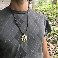 Seed of Life Sacred Geometry Brass Pendant Necklace