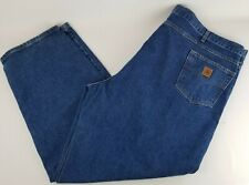 Carhartt Relaxed Fit Men's Blue Denim Jeans Size 52x32
