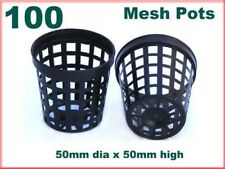 50mm Mesh Net Pot Pack of 100 for Aquatic Plants Orchids Hydroponics