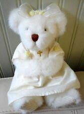 "Russ Berrie Teddy Bear Plush Stuffed MARY Christening/Baptism/Confirmation 9"""