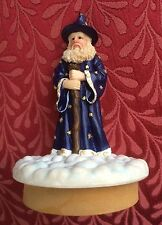 Magician Wizard in Blue Robe w/ Crystal Magic Candle Jar Topper Collectable