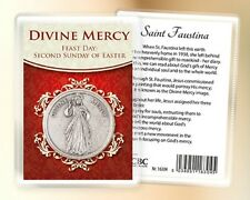 JESUS DIVINE MERCY POCKET TOKEN & CARD RELIGIOUS STATUES CANDLES PICTURES LISTED