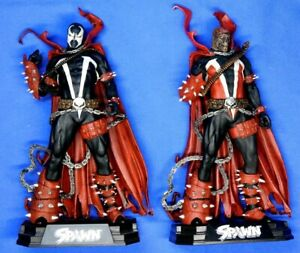 MCFARLANE TOYS COLOR TOPS SPAWN LOT OF 2 FIGURES REGULAR AND VARIANT