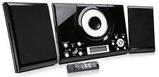 Grouptronics GTMC-101 Black CD Player Stereo FM Radio Clock / Alarm / Wall Mount