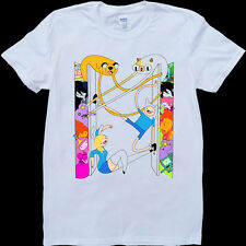 Adventure Time Funny Men's White, Custom Made T-Shirt