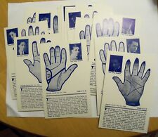 EXHIBIT SUPPLY PALM FORTUNE FOR WOMEN SET - 16 ARCADE CARDS  NEAR MINT