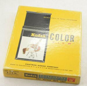 "Kodak Ektachrome 4x5"" 10-Sheets Box Color Type B Transpar SEALED 1964 Expired D4"