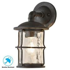 Home Decorators Collection 1-Light Gilded Iron Outdoor Wall Mount Lantern