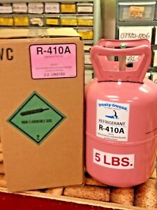 R410a, Refrigerant 410, 5 lb. Sealed Cylinder, A/C Recharge Gas, FREE Shipping