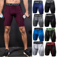 Mens Compression Shorts Base Layer Pants Workout Sport Under Running Fitness