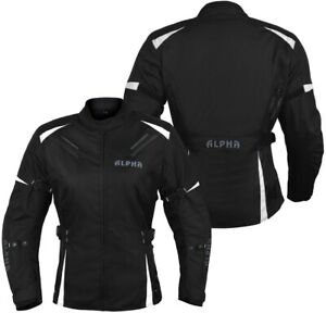ALPHA WOMENS MOTORCYCLE JACKET BIKER CE ARMOR RIDING RACING LADIES ALL SEASON