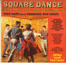 """MAC GANT & THE TENNESSEE DEWDROPS """"SQUARE DANCE PARTY"""" 60'S LP"""