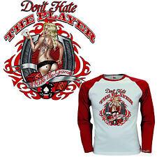*  Rockabilly  Pin-Up Player Pokerspieler Zocker  T-Shirt *1282 LS
