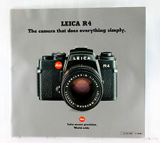 Leica R 4 Sales Brochure  - printed May 1981 - 52 pages