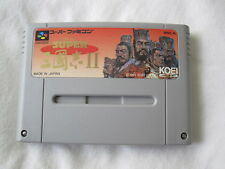 Super Sangokushi II (Super Famicom SFC/SNES) Game Cartridge Excellent