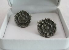 Tudor Rose Cufflinks in Fine English Pewter, Gift boxed