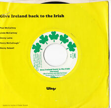 """Wings -Give Ireland Back To The Irish- 7"""" 45 Apple Records (1847)"""