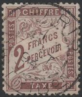 """FRANCE STAMP TIMBRE TAXE 26 """" TYPE DUVAL 2F MARRON 1884 """" OBLITERE TB A VOIR"""