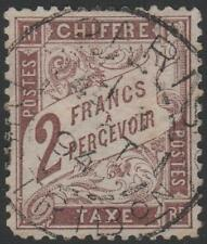 "FRANCE STAMP TIMBRE TAXE 26 "" TYPE DUVAL 2F MARRON 1884 "" OBLITERE TB A VOIR"