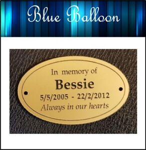 Oval plaque, Gold colour - for Urn, Bottle, etc Engraved and Personalised